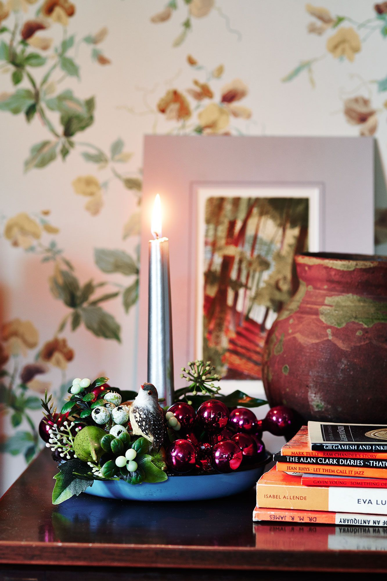 This tiny Shropshire cottage is big on vintage Christmas decorations