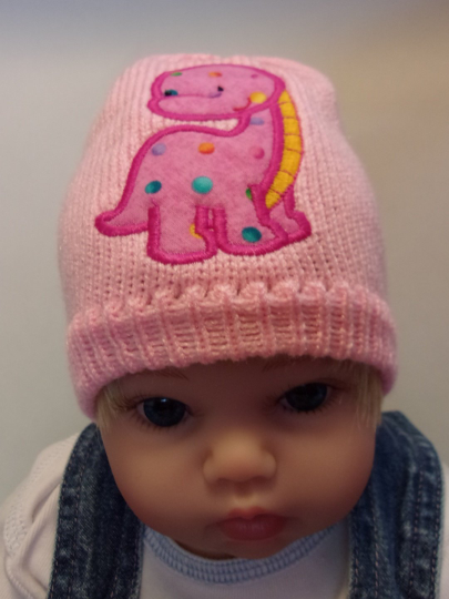 d604417e066 Infant hat  Darling beanie adorned with a pink horse full of hearts for a  special