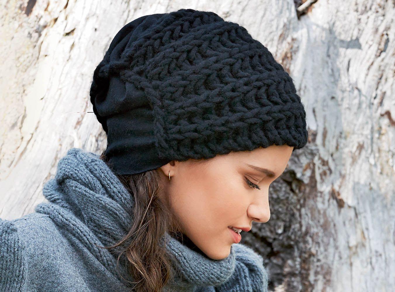 связать красивую шапку спицами схема