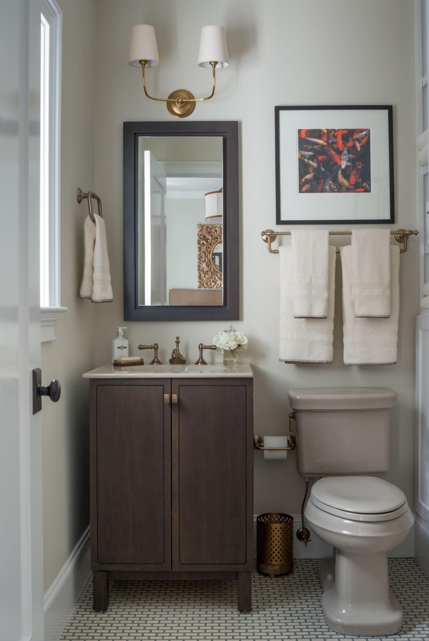 mondavihome Guest Bathroom with Benjamin Moore s walls Aura Bath & Spa