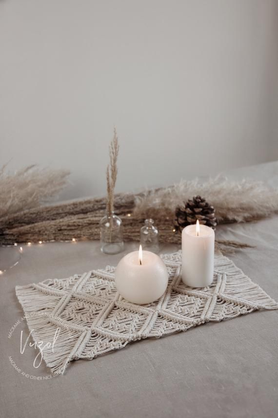 Photo of Macrame Table Runner for Dining Room/ Napkins for Table Boho Decor/ Christmas or Wedding Decoration