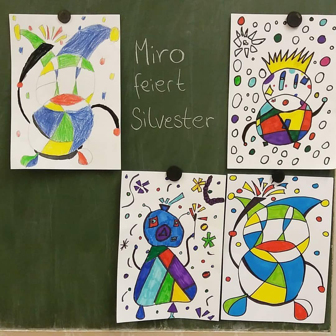 Wir malen wie Miro ? Ein schnelles Kunstprojekt nach den Winterferien #künst…