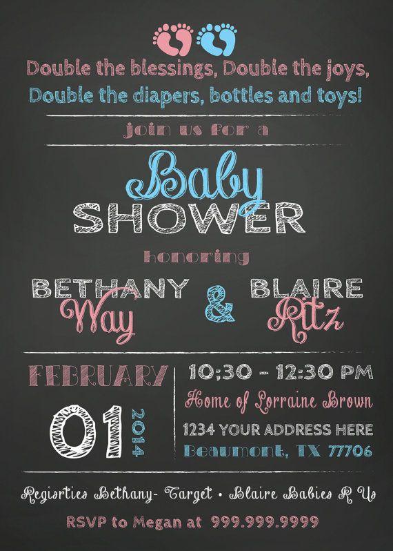 3d11bf68f3caf A LA VENTA Invitación de Baby Shower mixto por SLDESIGNTEAM en Etsy ...