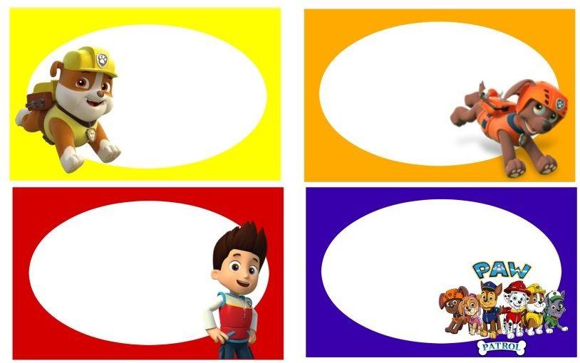 etiquetas stickers paw patrol personajes para decoraci n todo paw patrol pinterest. Black Bedroom Furniture Sets. Home Design Ideas