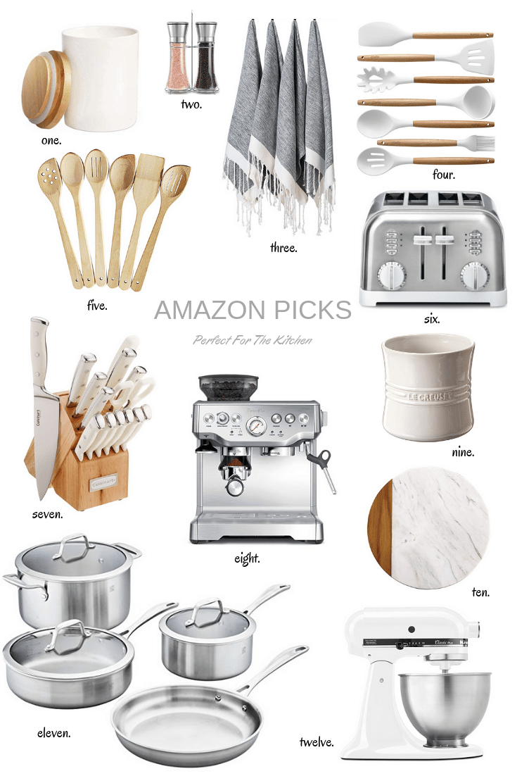 Amazon Finds For The Kitchen is part of Kitchen remodel cost, Kitchen essentials list, Kitchen accessories, Kitchen remodel, Kitchen furniture, Kitchen items - Amazon continues to be a source for just about everything in our family  We share our Prime account with our sons and between the four of us, something is either in our cart, on its way, or out for delivery on the daily  Today, I've rounded up a few things for the kitchen   some …