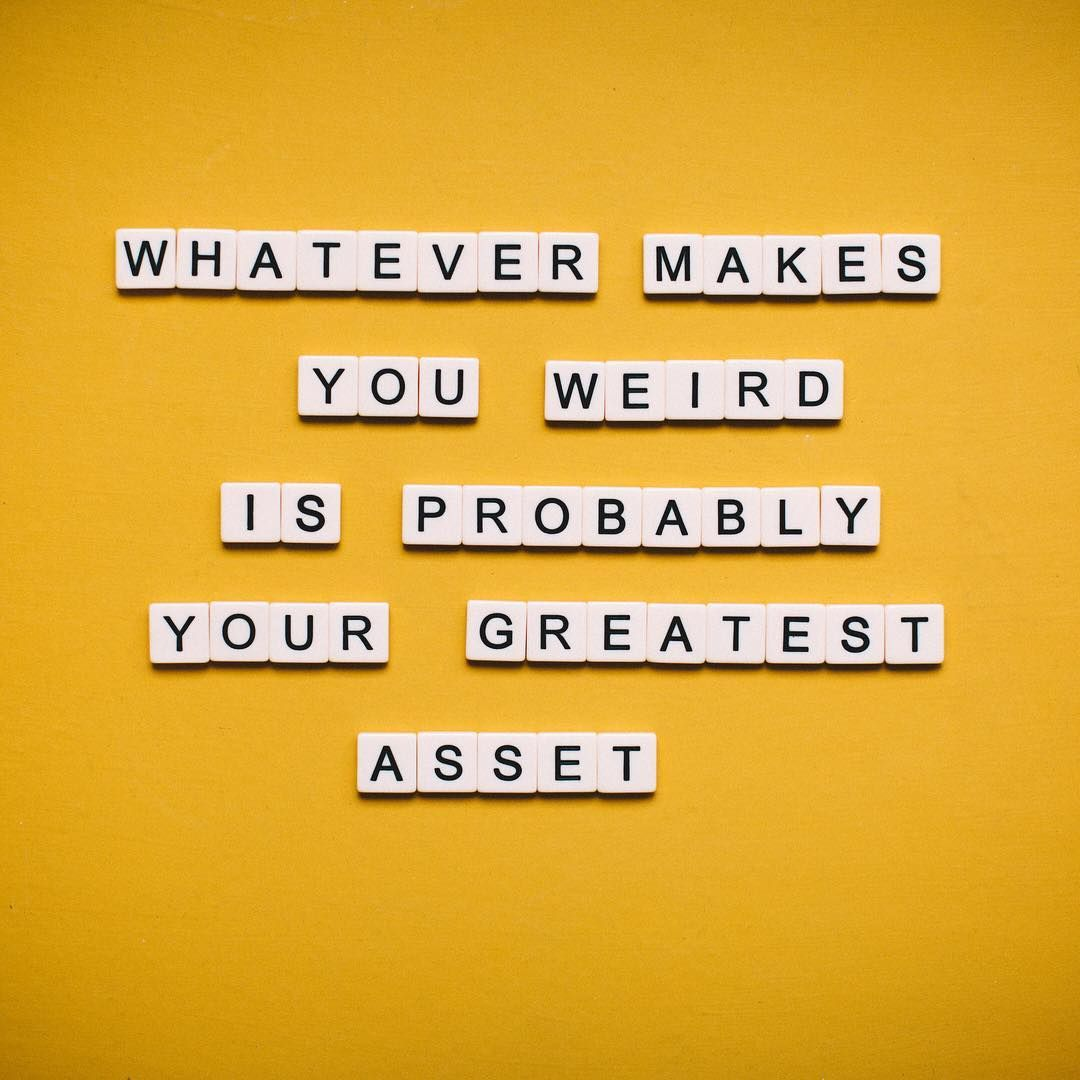 Mantraband On Instagram Whatever Makes You Weird Is Probably Your Greatest Asset August Mantra Of The Month Is Fearles In 2020 Inspirational Quotes Quotes Words