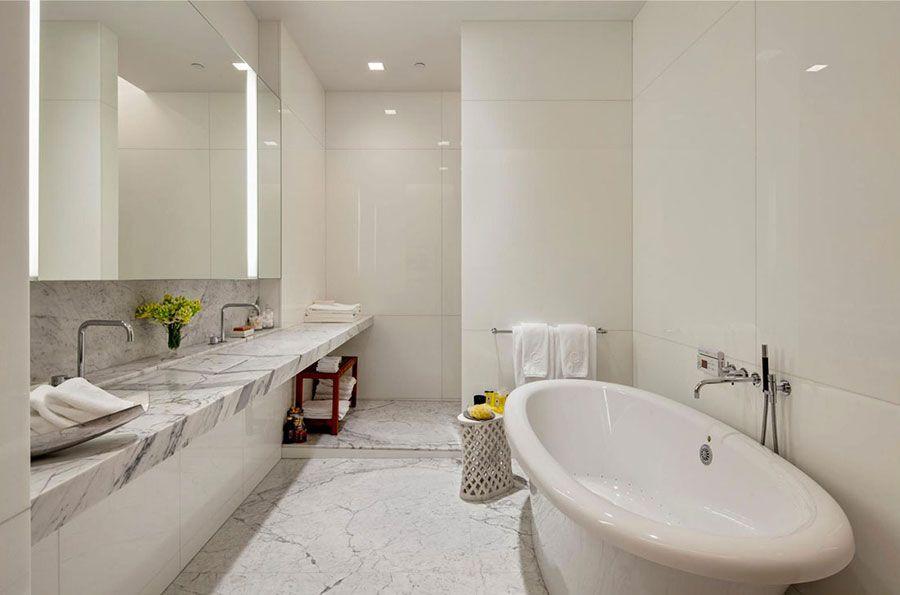 Bagni in marmo bianco idee per arredi di lusso