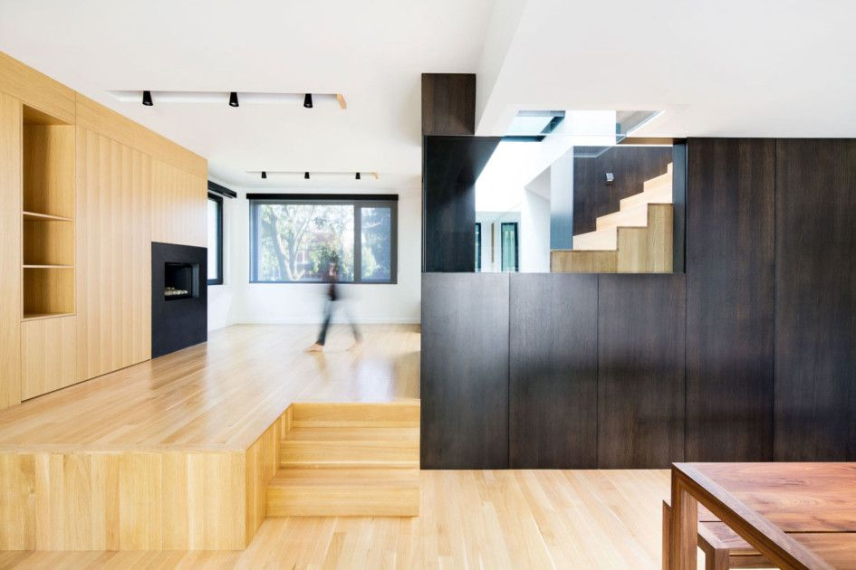 Architecture, Astonishing Home Remodeling Interior Ideas Of Connaught With  Concrete Material Floor Featuring Open Floor