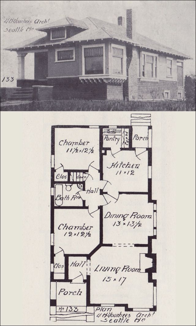 1908 hip roofed bungalow cottage plan western home builder