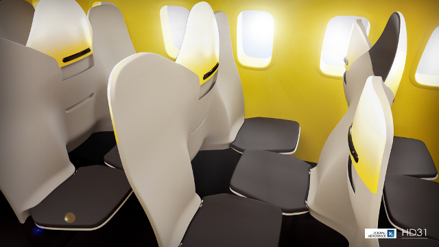 New airline seat arrangement looks to increase passenger
