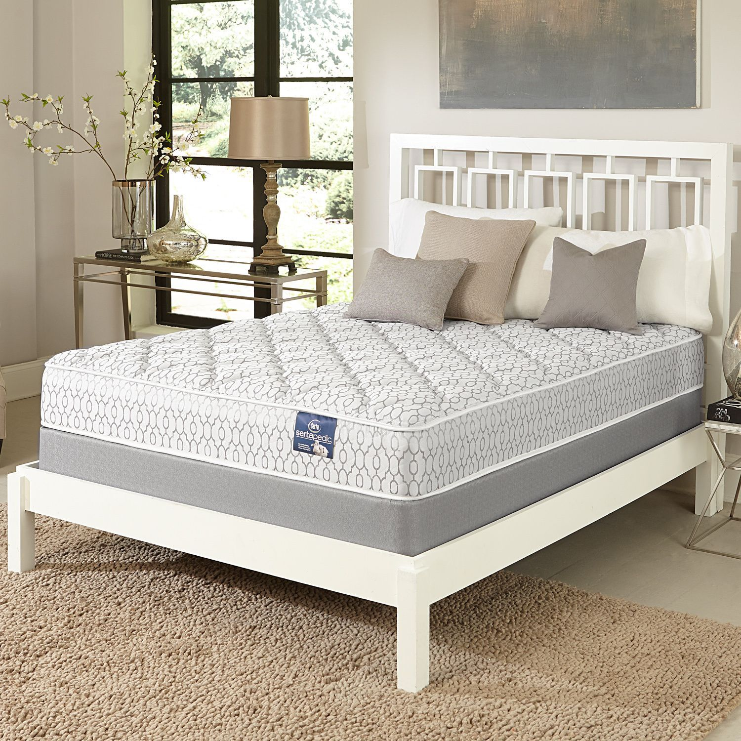serta gleam plush full size mattress set by serta mattress sets
