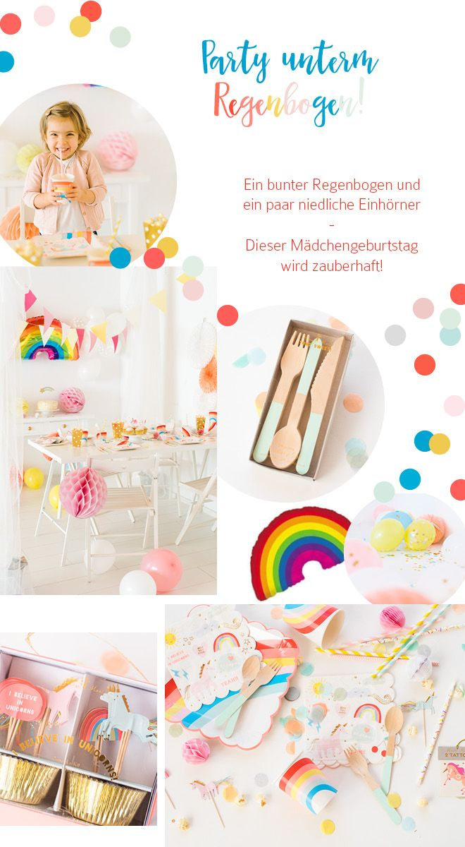 Kindergeburtstag Einhorn Party unterm Regenbogen