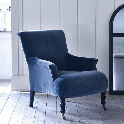 Lovely Velvet Slipcover Chair
