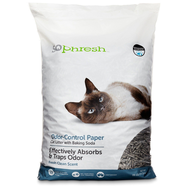 So Phresh Odor Control Paper Pellet Cat Litter 25 Lbs