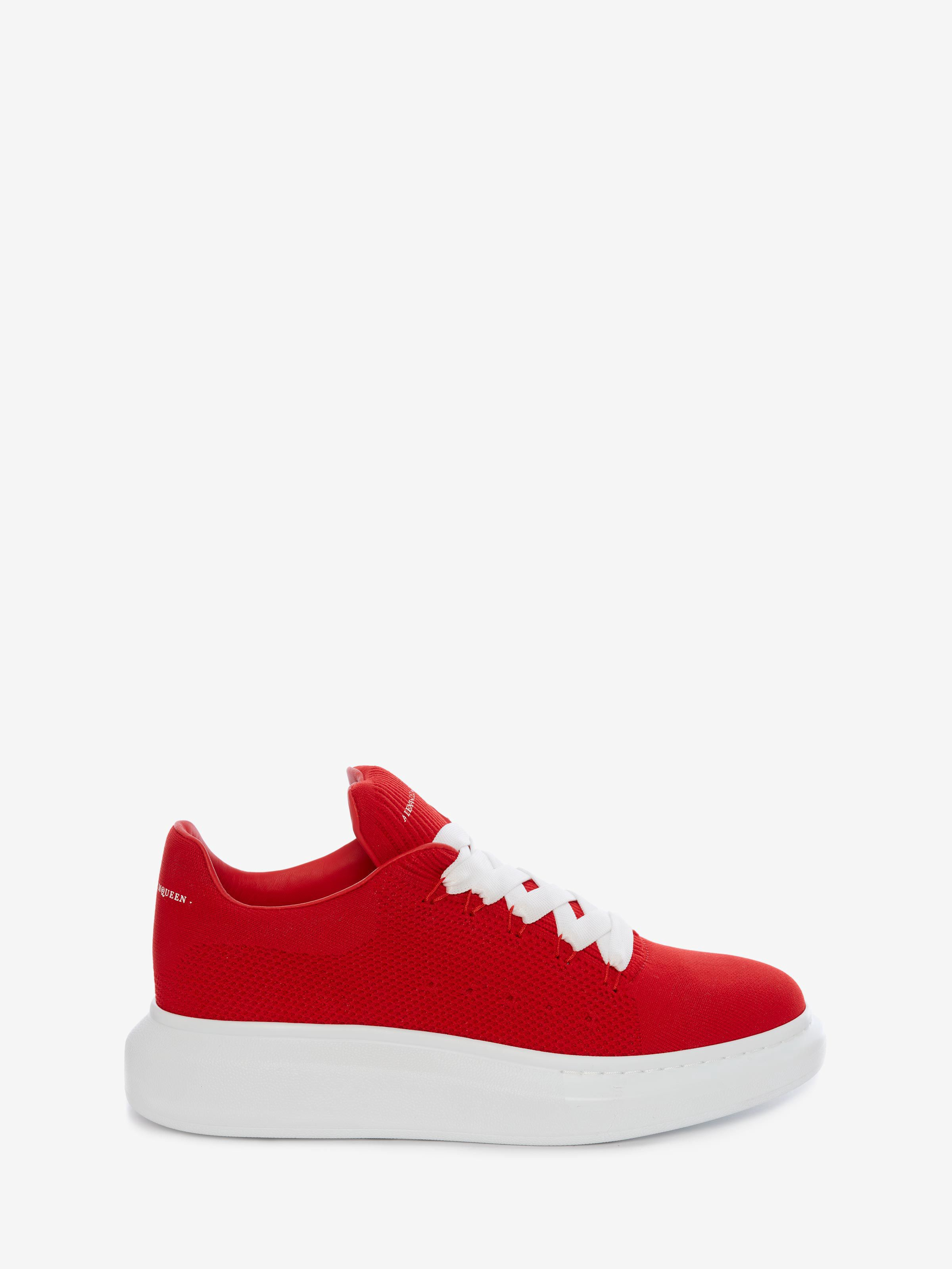 Alexander Mcqueen Red Knit Oversized Sneakers In 6418flmred Modesens