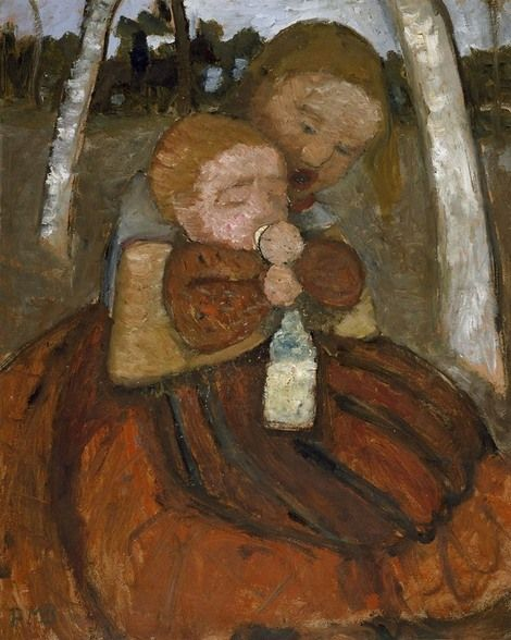 Girl With A Baby Among Birch Trees By Paula Modersohn Becker Paula Modersohn Becker Art Culture Art