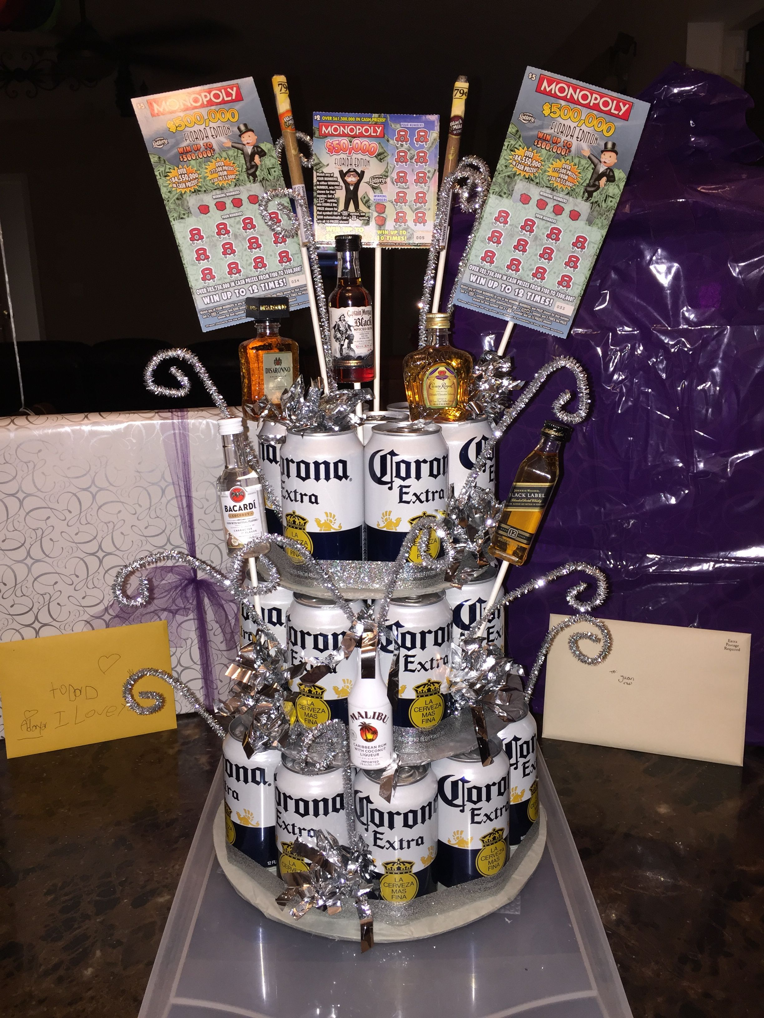 beer cake - super easy gift perfect for boyfriend, husband, brother