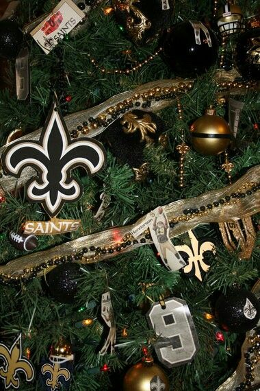 Decorated New Orleans Saints Christmas Tree - Decorated New Orleans Saints Christmas Tree My New Orleans Saints