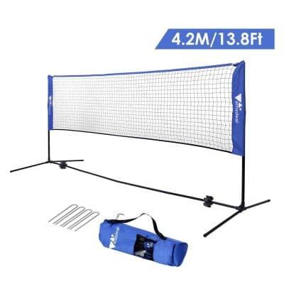 Amzdeal Badminton Volleyball Net In 2020 Badminton Set Badminton Volleyball Net Height