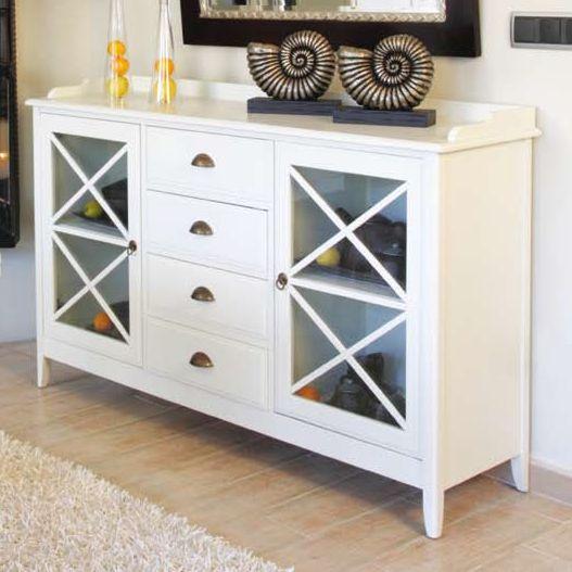 Aparador Mesa Retratil ~ Aparador Eneko blanco Muebles coloniales blancos Pinterest Aparadores, Blanco y Muebles madera