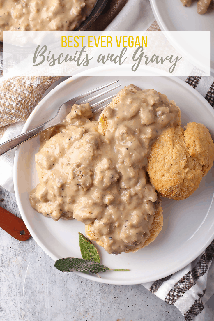 Vegan Biscuits And Gravy Recipe In 2020 Sausage Gravy Vegan Biscuits And Gravy Vegan Biscuits