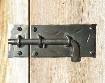 Hand Forged 4 7 Quot Round Cabinet Door Latch Iron Cupboard