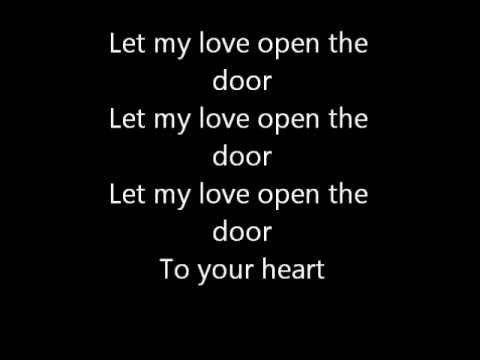 Let My Love Open The Door Lyrics Let It Be Lyrics My Love