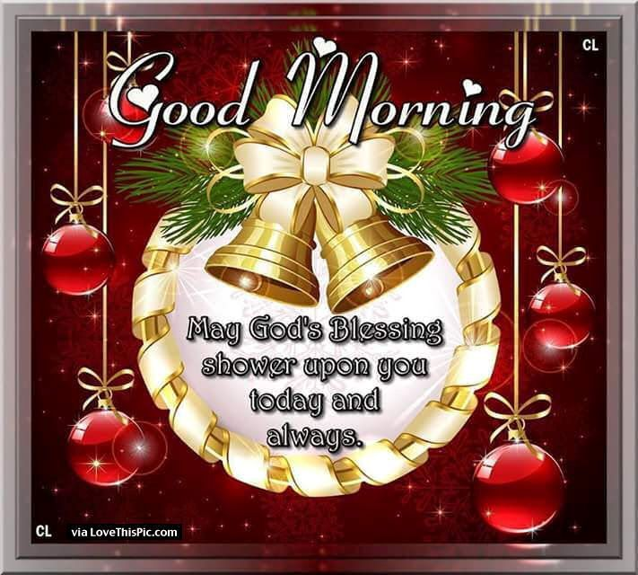 Christmas Good Morning Quotes: Good Morning Christmas Blessings Quote Good Morning Good