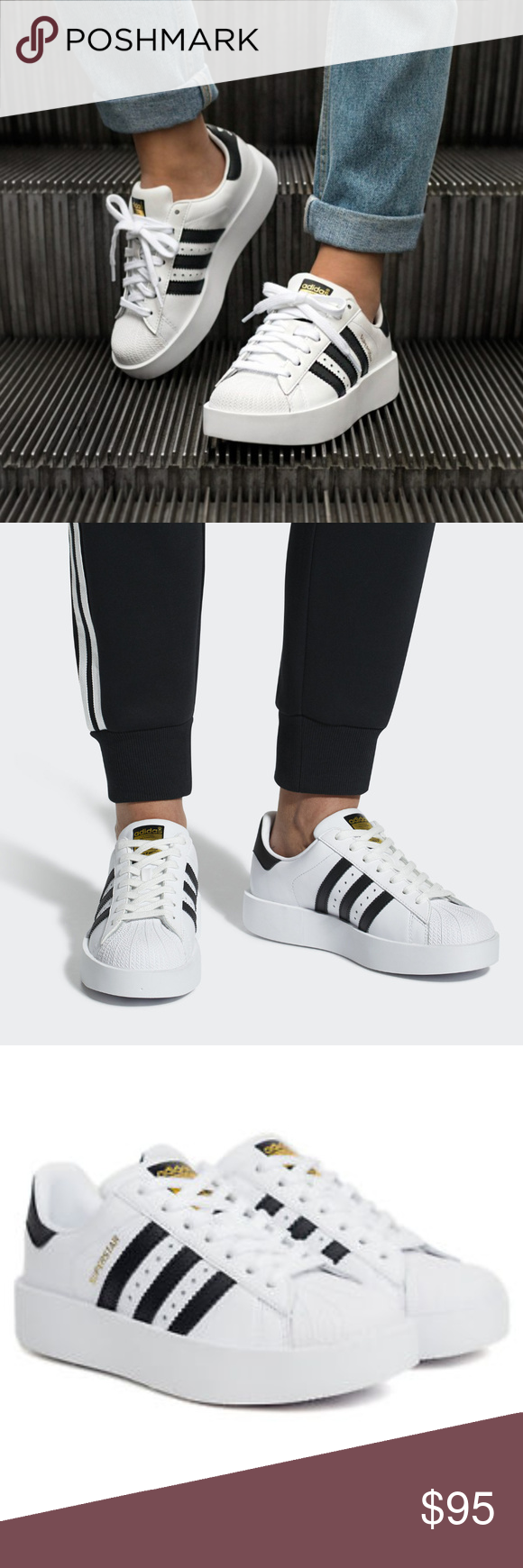 Adidas superstar piattaforma scarpe nwt superstar scarpe