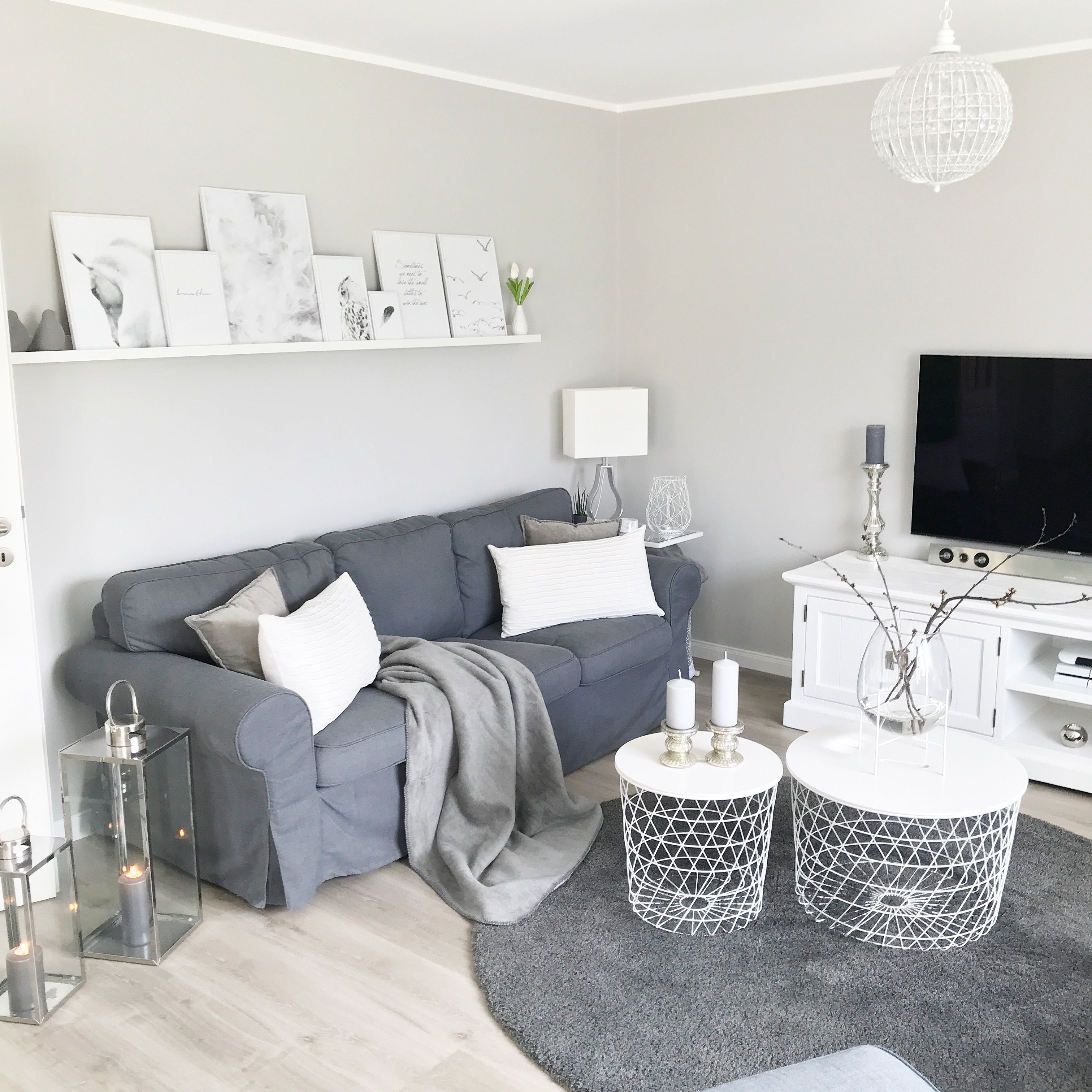 Instagram: wohn.emotion Nordichome whiteliving greyandwhite