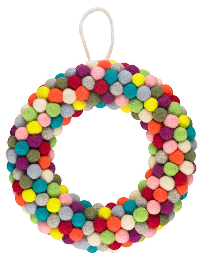 Paperchase Christmas Pom Pom Wreath The Relaxed Home