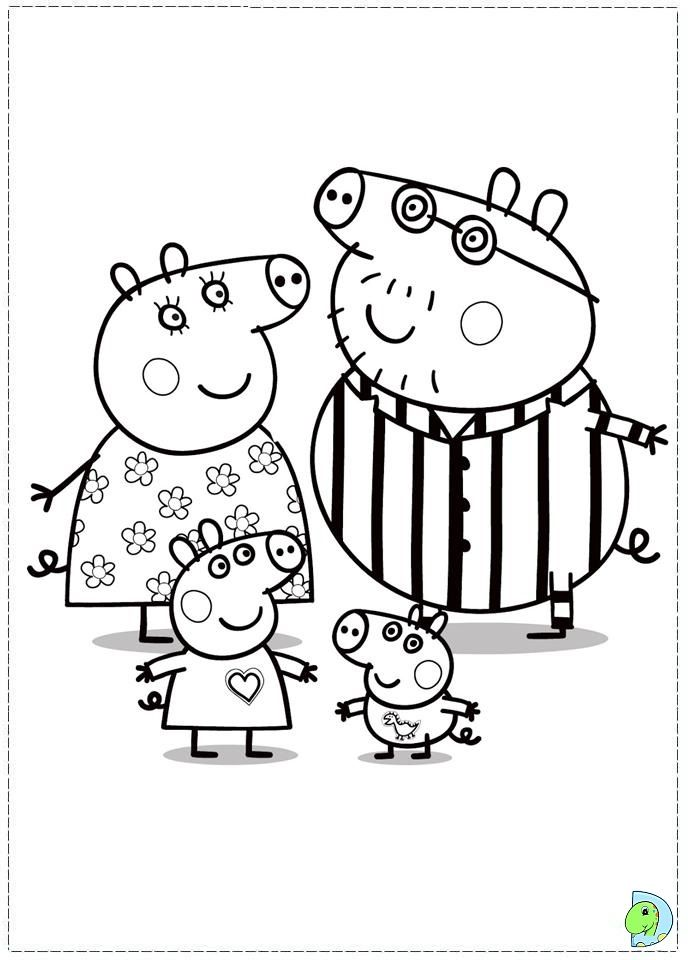 peppa pig coloring page enjoy coloring