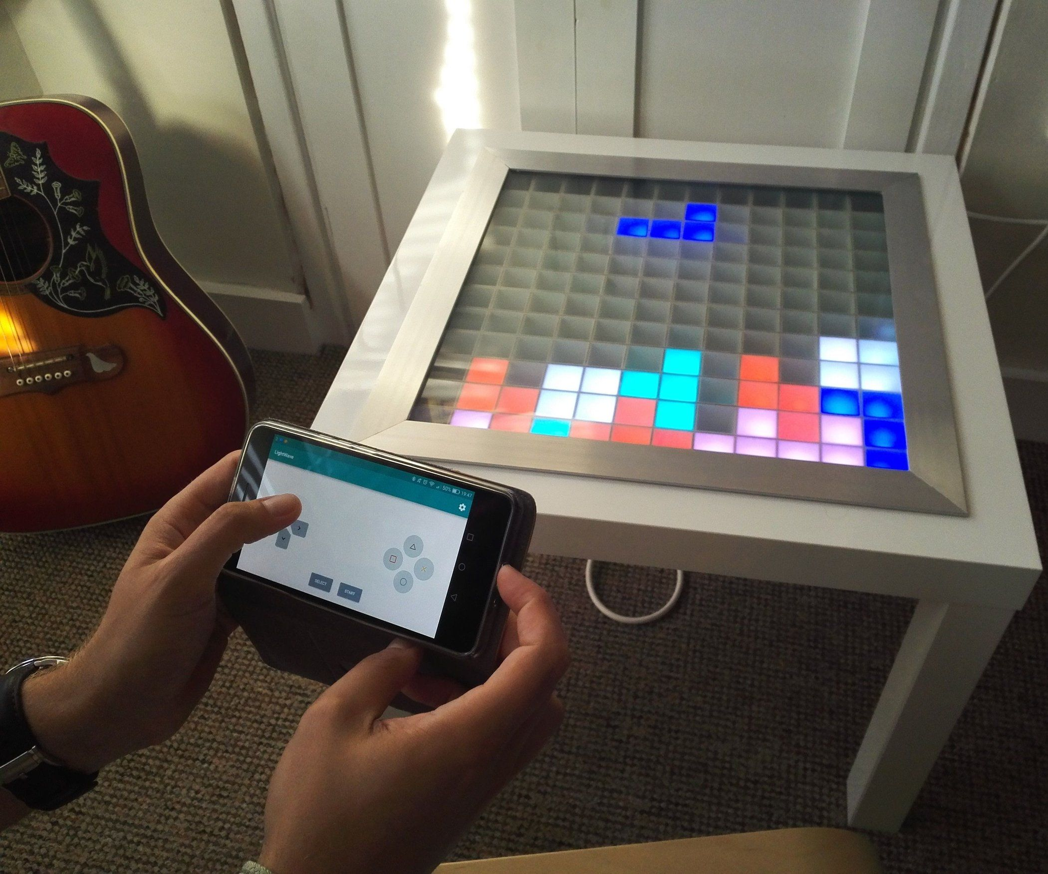 Transform An Ikea Side Table Into A Music Visualizer Make Ikea Coffee Table Ikea Side Table Ikea [ 1480 x 1200 Pixel ]