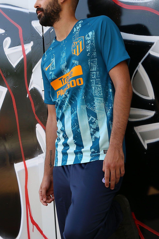 Camiseta oficial tercera equipación Atlético de Madrid 2018 2019 - azul   nike  laliga   df57ee323ae27