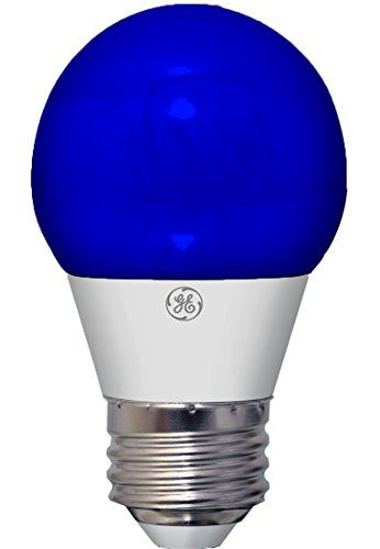 Ge Lighting 92125 3 Watt Led 45 Lumen Party Light Bulb With Medium Base Blue 1 Pack Led Light Bulb Ge Lighting Light Bulb