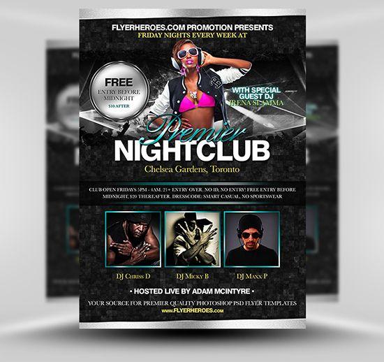 free nightclub flyer templates