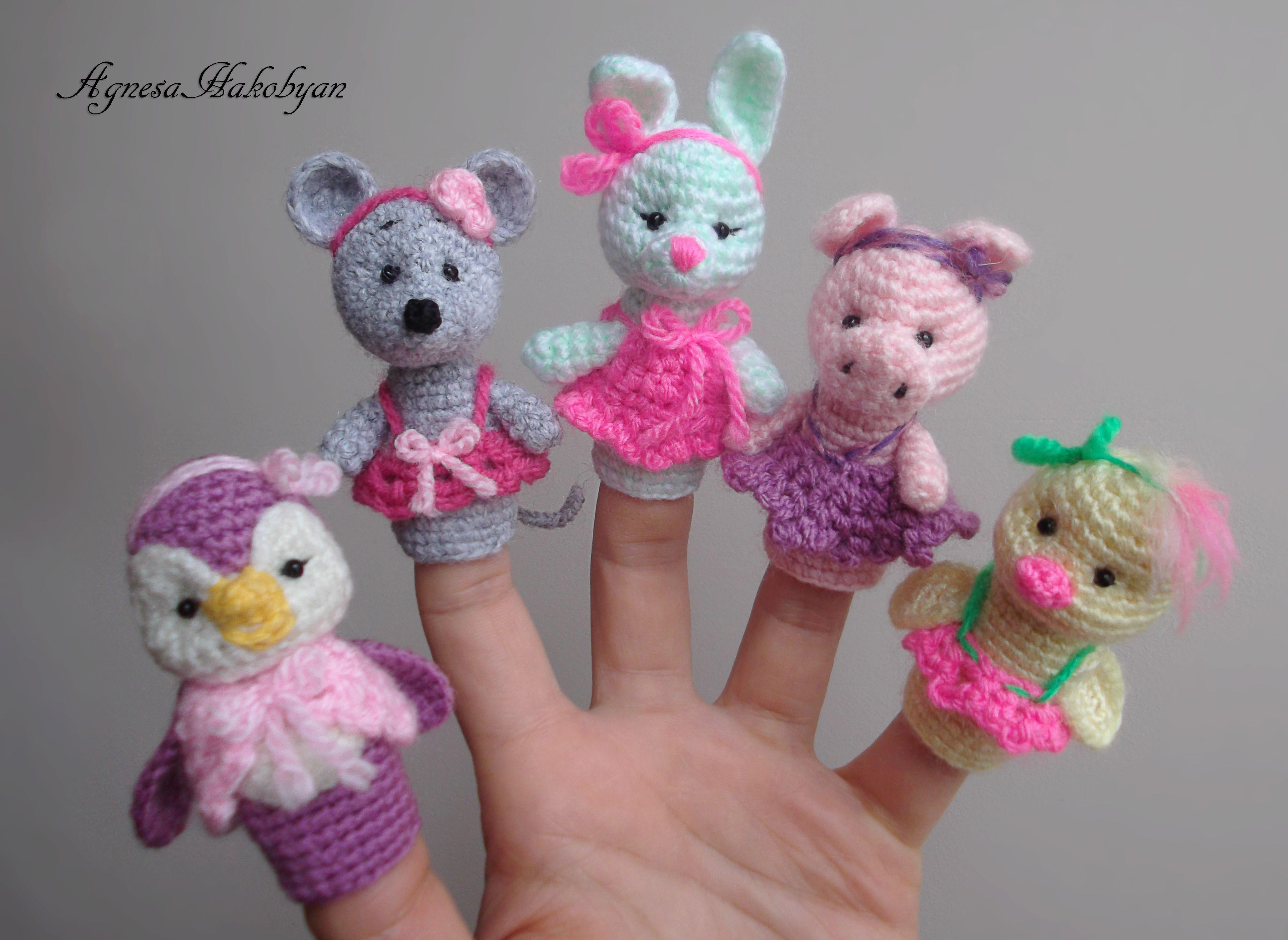 Crochet Finger Puppets Crochet Toys Pinterest Virka