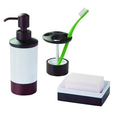 InterDesign Formbu Soap Dish - White/Espresso