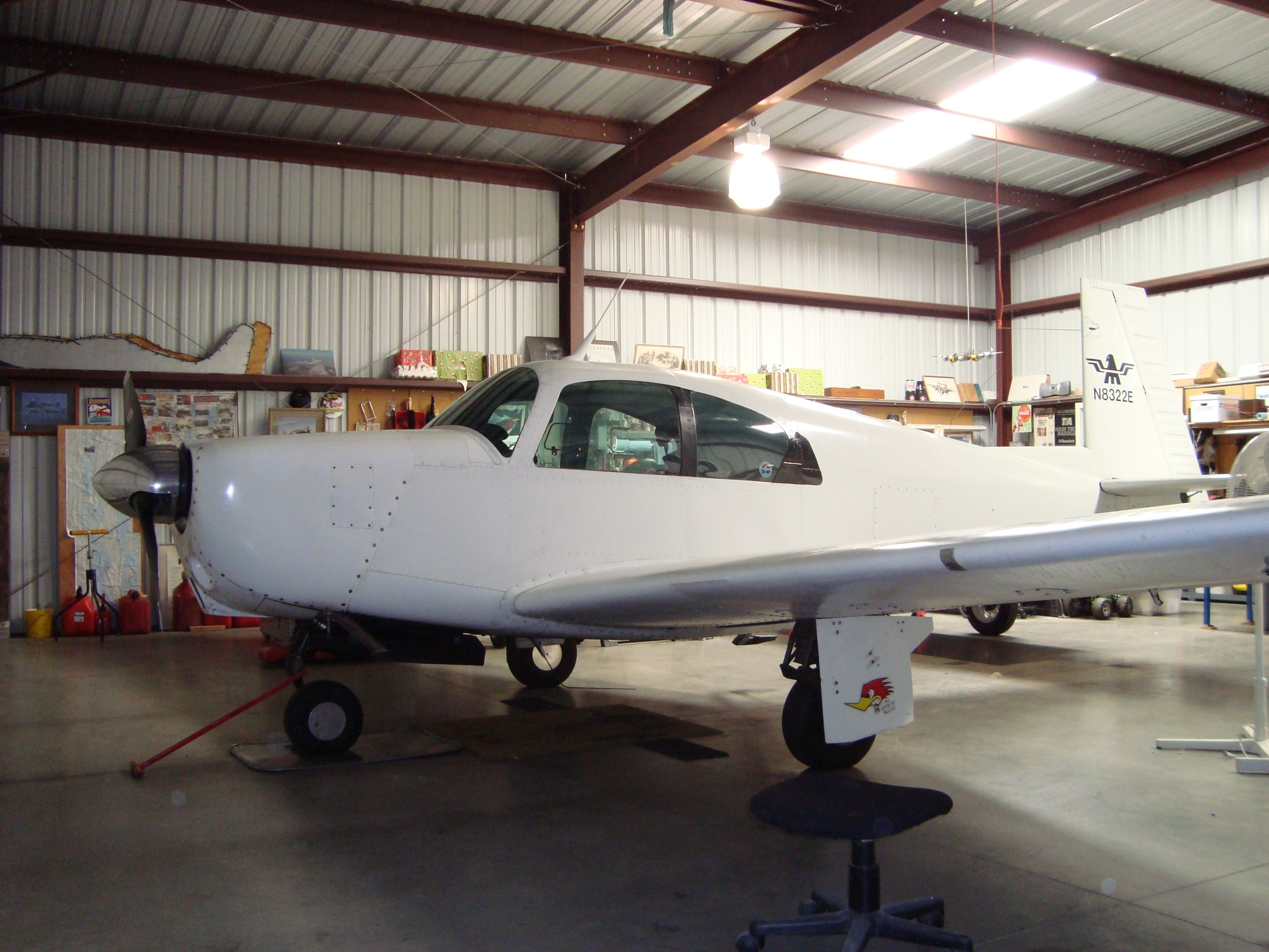 This is my current airplane. It's a Mooney M20A. Old