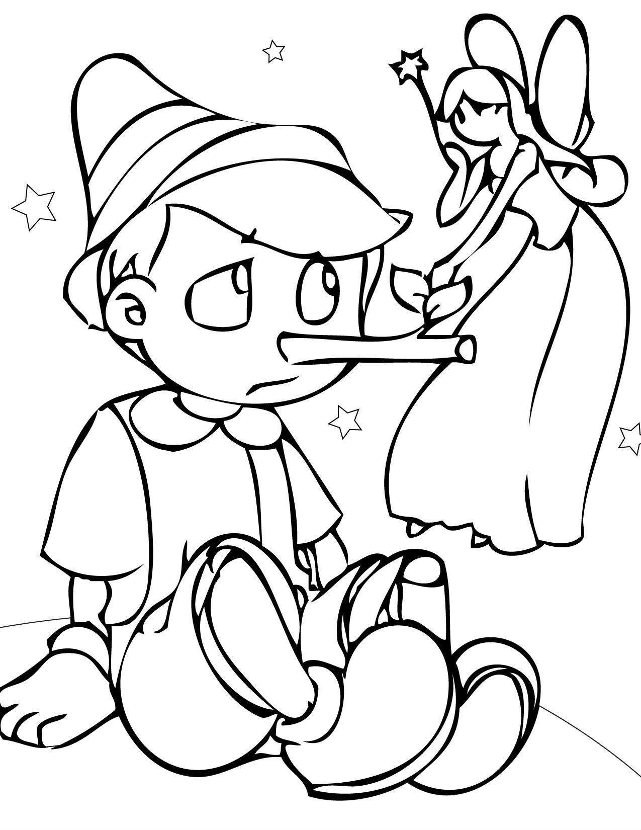 Fairy Tales Pinocchio Coloring Pages For Kids C4g Printable Fairy Tales Coloring Pages For Kids Disney Coloring Pages Fairy Coloring Pages Coloring Pages