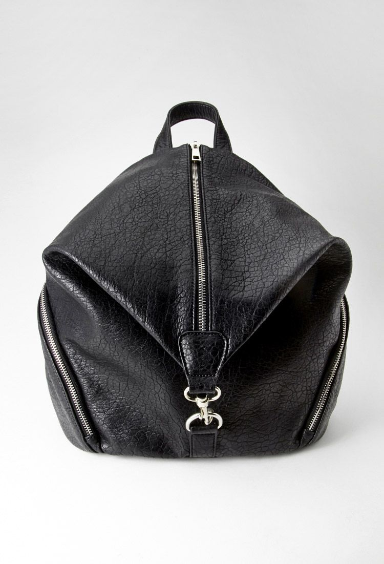 d1d59f2c308 Pebbled Zip-Front Backpack | Forever 21 - 1000100689 | With a Bow on ...