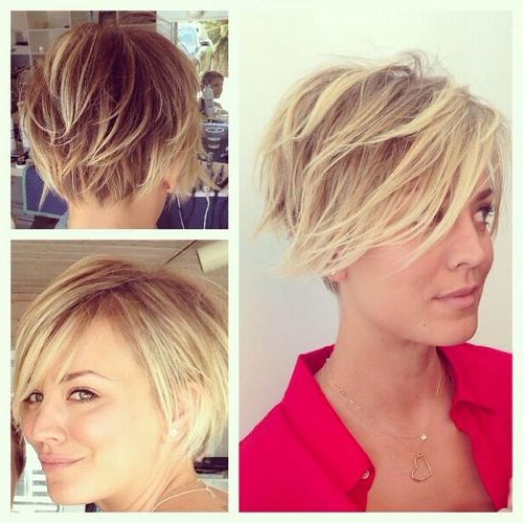 Kaley Cuoco Short Hair Collections Frisyrer Pinterest Kaley