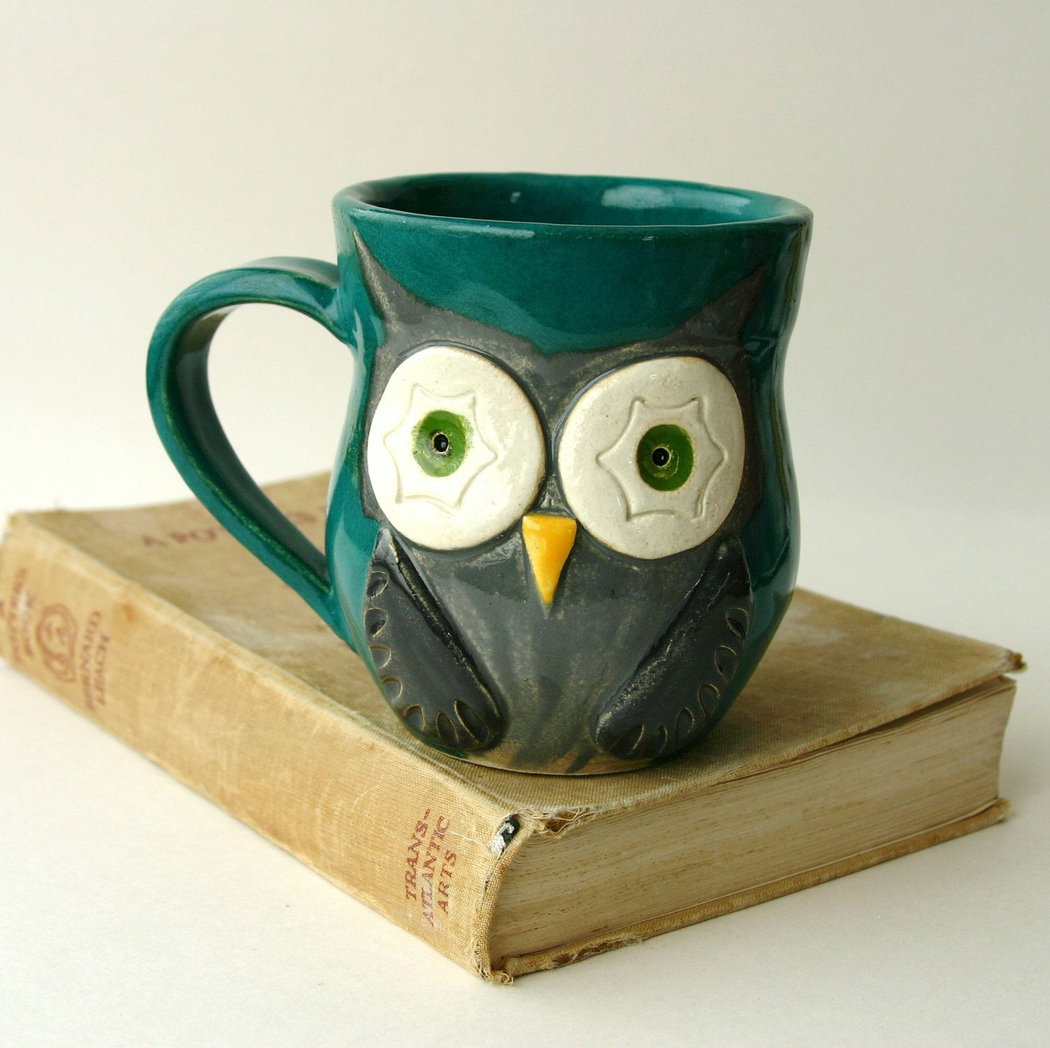 Owl Ceramic Mug Mr Owl Ceramic Mug Etsy 26 For The Home