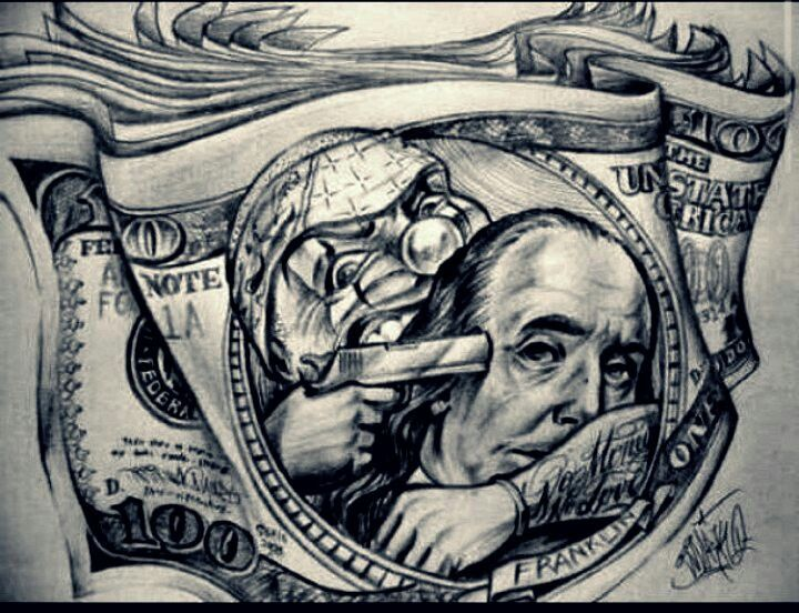 Benjamin Franklin Getting Jacked Money Tattoo Chicano Tattoos