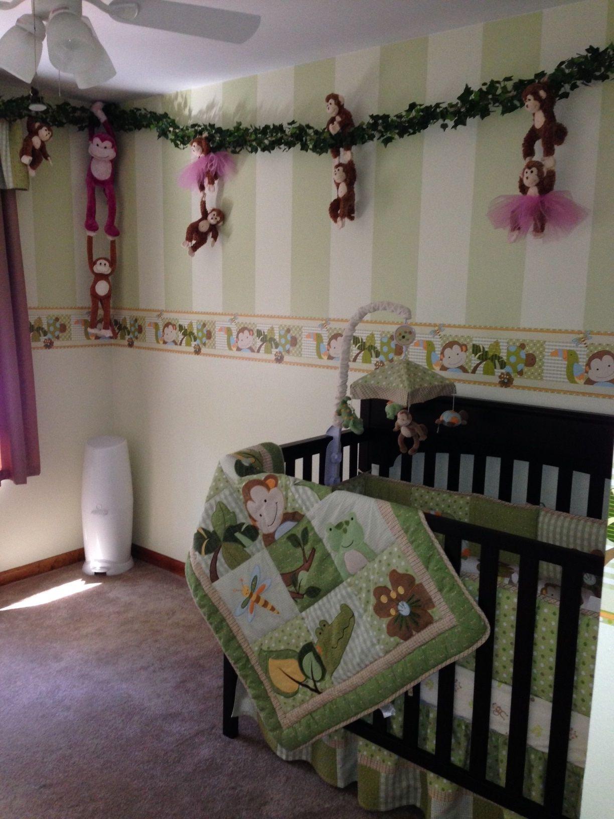 Cool Baby Boy Nursery Ideas: Twin Boy And Girl Monkey Themed Nursery
