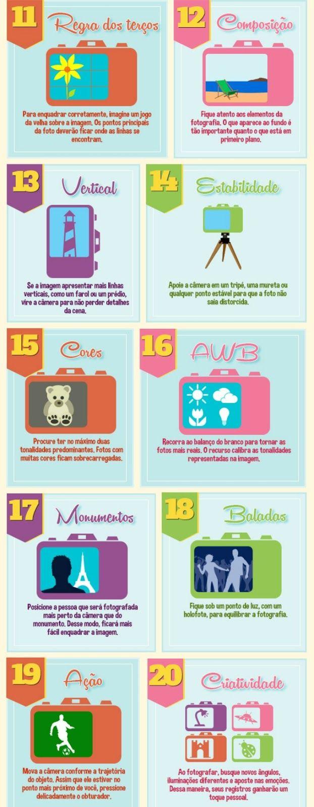 20 dicas para tirar fotos legais