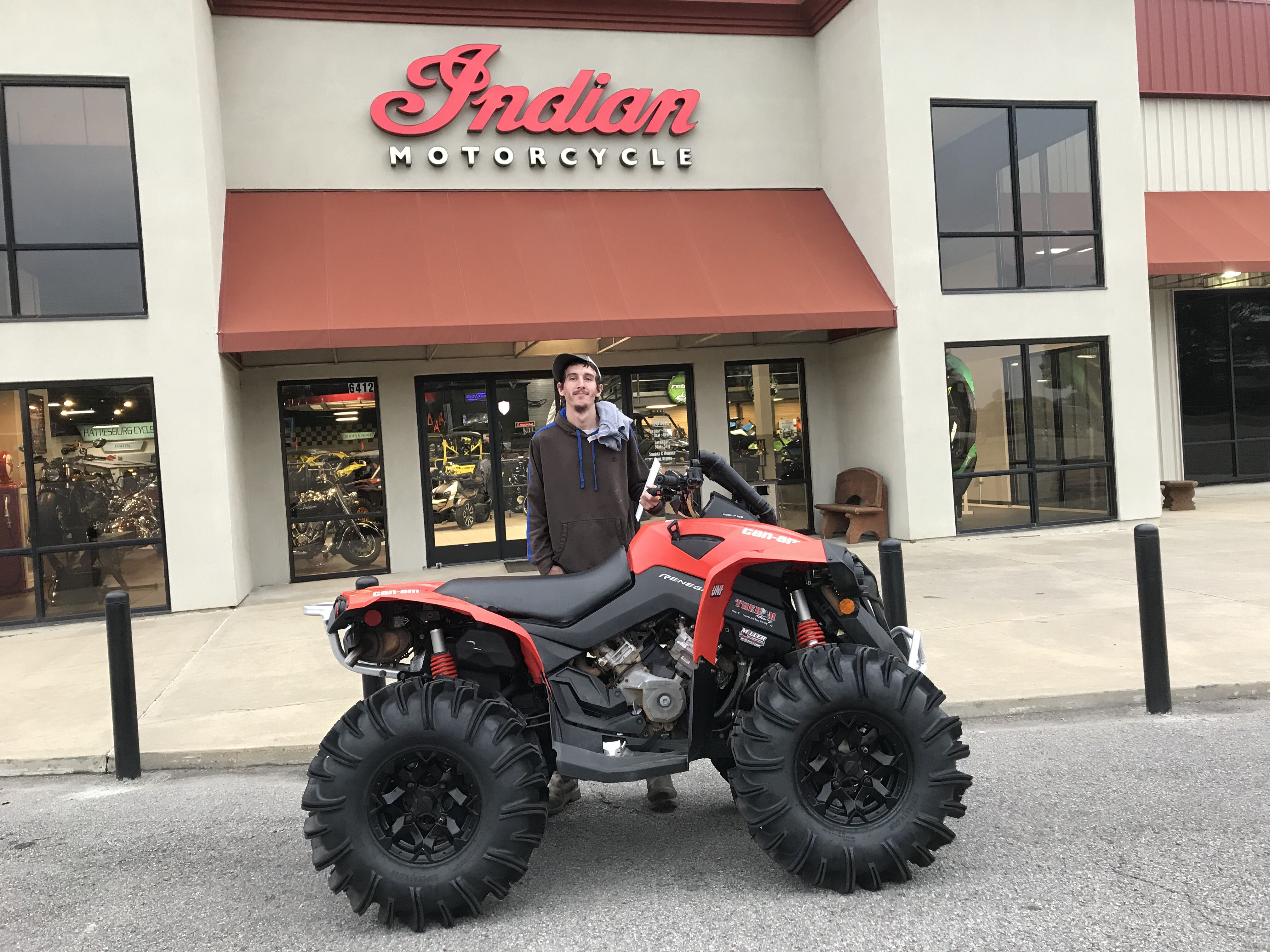 Congratulations To Steven Lambert From Ellisville Ms For Purchasing A 2017 Can Am Renegade 850 At Hattiesburg Cycles Canam Hattiesburg Can Am Monster Trucks