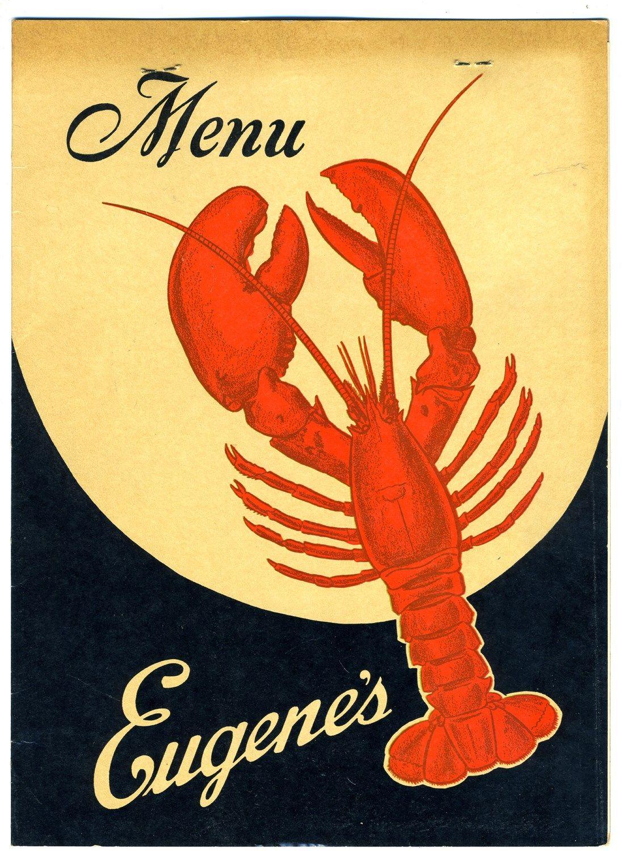 Eugene S Seafood Restaurant Menu Milwaukee Wisconsin 1952
