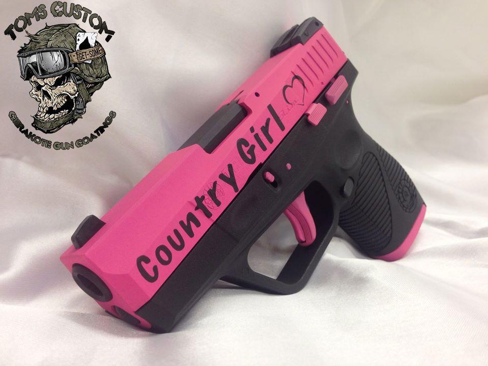 Taurus Pt709 In Country Girl Pink Cerakote Guns Custom