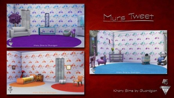 Khany Sims: TWEET rugs by Guardgian • Sims 4 Downloads